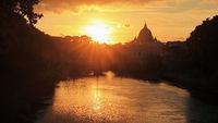 Sunset over the Tiber, Rome