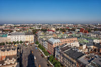 City Of Krakow In Poland From Above