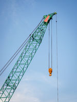 Green crane with 70 tons lifting weight
