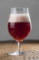 belgisches Kriek ein Bier mit Kirschen