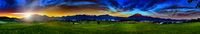 Panorama of mount Rigi and Pilatus with view of golf course in Meggen, Switzerland!