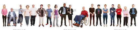 Gruppe Leute als Vielfalt durch Inklusion und Integration Konzept