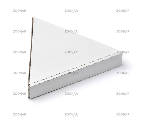 Blank triangle packaging pizza box
