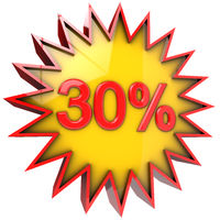 Star off thirty percent