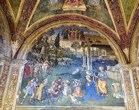 Spello Umbria Italy. Baglioni Chapel frescoed by Pinturicchio