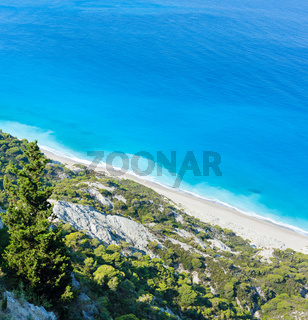 Lefkada coast beach (Greece)