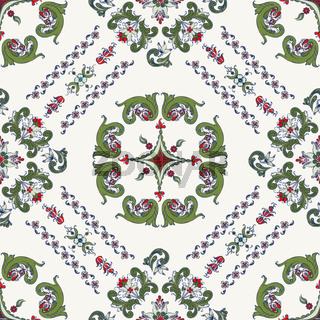 Rosemaling vector pattern 27