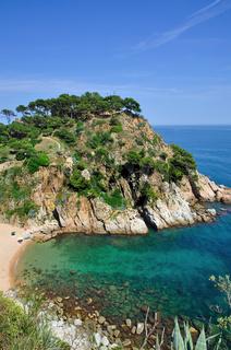 wildromantische Küste der Costa Brava