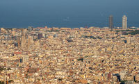 Blick über Barcelona in Spanien