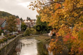 Village impression from the hessia town called Lauterbach