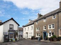 the village square and shop in cartmel cumbria