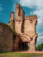 Old defence tower of Kosumberk Castle. The ruin of castle i