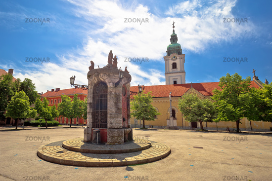 Town of Karlovac main square architecture view