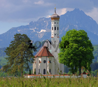 St. Coloman mit Wiese - St Colomann and meadow 02