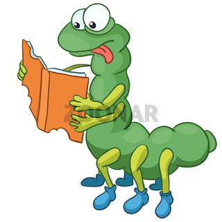 Cartoon Character Caterpillar