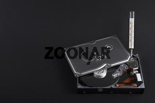 Offene Festplatte