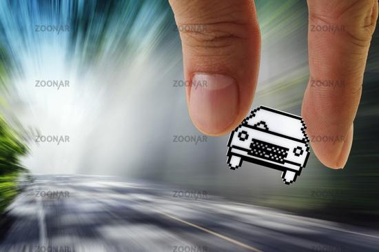 pixel car icon