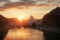 Sunset colors over Rome