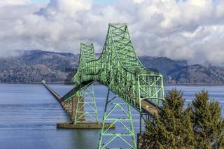 The landmark Astoria, Oregon bridge.