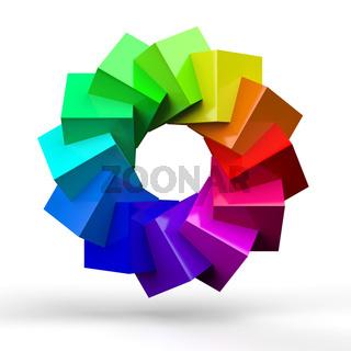 3D Würfel Farbkreis 4