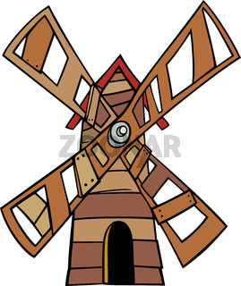 windmill clip art cartoon illustration
