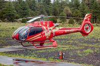 GRAND CANYON, ARIZONA, USA - JULY 30 : Helicopter grounded due to rain at the Grand Canyon, Arizona, USA on July 30, 2011