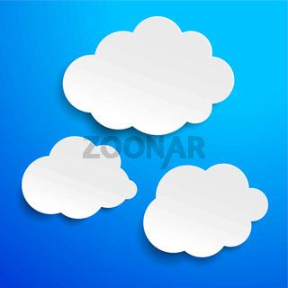 Three Clouds Blue Sky Label