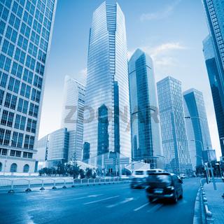modern city in shanghai