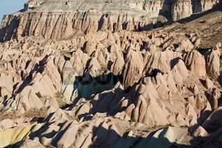 typical rock formations in Cappadocia
