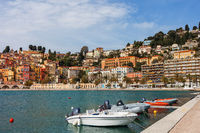 Menton Town and Sea Bay in France