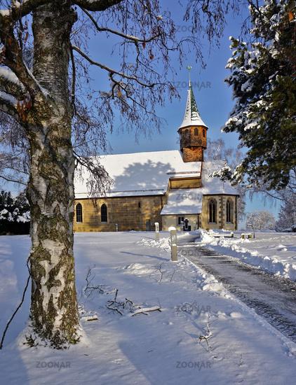 Belsener Kapelle im Winter