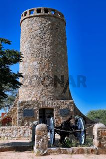 Der historische Franke-Turm in Omaruru, Namibia, ein nationales Denkmal   the historic Franke tower in Omaruru, Namibia, a national monument