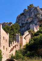 Part of Xativa castle fortified wall. Valencian Community, Spain