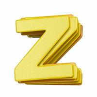 Yellow font Letter Z 3D