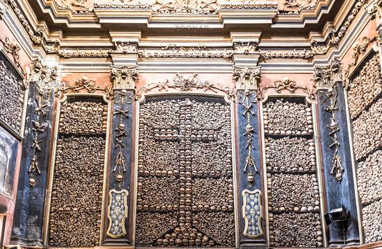Milan, Italy. Ossuary Chapel in San Bernardino alle Ossa Church.