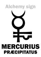 Alchemy: MERCURIUS PRÆCIPITATUS (Precipitate of Mercury)