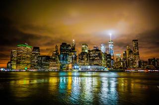 New York Manhattan night view