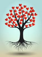 Tree of Hearts Illustration