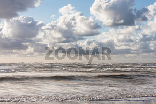 Wellen an der Nordsee, Waves at the North Sea