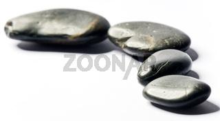 spa steine in einer reihe
