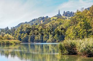 Hochrhein bei Buchberg-Rüdlingen, Kanton Schaffhausen, Schweiz