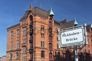 Gebäude in der Speicherstadt von Hamburg