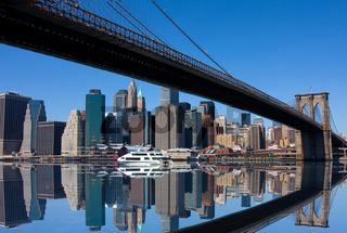 Brooklyn Bridge and Manhattan in New York City