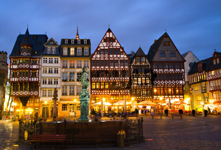 Historic Centre of Frankfurt at Twilight