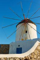Windmill in Mykonos in Greece