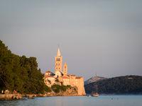 Rab Croatia channel of Eufemija at sunset
