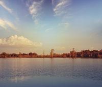 Sunset in Florida wetlands