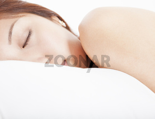 young Woman in sleeping