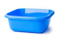 Blue plastic basin