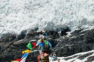 Karola-Gletscher Glauben und Hoffnung am Berg Tibet China